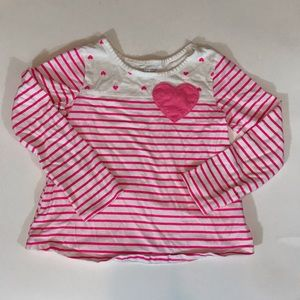 Children's Place striped pink long sleeve shirt.